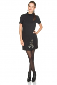 Patrizia Pepe |  Metallic dress Diamond | black  | Picture 3
