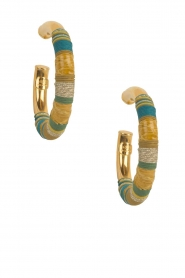 Gas Bijoux |  Plated earrings Porto | gold   | Picture 2