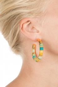 Gas Bijoux |  Plated earrings Porto | gold   | Picture 3
