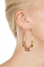 Gas Bijoux | Vergulden oorbellen Comedia | goud  | Afbeelding 4