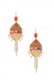 Satellite Paris |  14k plated earrings Kuzco | gold  | Picture 2