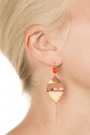 Satellite Paris |  14k plated earrings Kuzco | gold  | Picture 3
