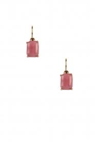 Satellite Paris | 14k gouden oorbellen Sofia | roze  | Afbeelding 1