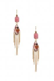 Satellite Paris | 14k verguld gouden oorbellen Sofia | roze  | Afbeelding 2