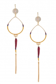 Satellite Paris |  14k gilded golden earring | purple   | Picture 1