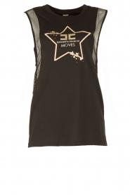 ELISABETTA FRANCHI | Luxe sporttop Star | zwart  | Afbeelding 1