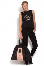 ELISABETTA FRANCHI | Luxe sporttop Star | zwart  | Afbeelding 3