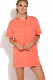ELISABETTA FRANCHI   Sport T-shirt jurk Bree   oranje    Afbeelding 2