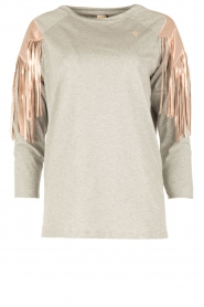 ELISABETTA FRANCHI |  Sport top Shine | grey  | Picture 1