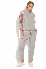 ELISABETTA FRANCHI |  Sport top Shine | grey  | Picture 3