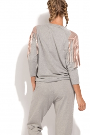 ELISABETTA FRANCHI |  Sport top Shine | grey  | Picture 5