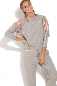 ELISABETTA FRANCHI |  Sport top Shine | grey  | Picture 2