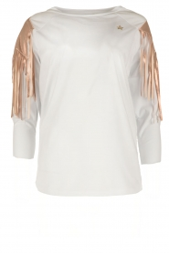 ELISABETTA FRANCHI |  Sport top Shine | white  | Picture 1