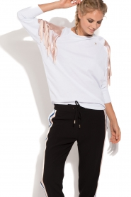 ELISABETTA FRANCHI |  Sport top Shine | white  | Picture 2