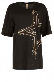 ELISABETTA FRANCHI | Oversized sport T-shirt Zema | zwart  | Afbeelding 1