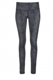 Slangenprint sportlegging Hayworth | zwart