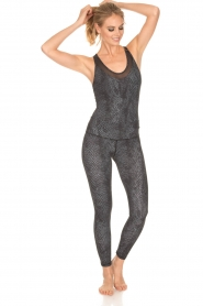 Varley |  Snake print swimsuit Parkin | black  | Picture 3