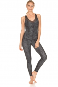 Varley |  Snake print swimsuit Parkin | black  | Picture 6