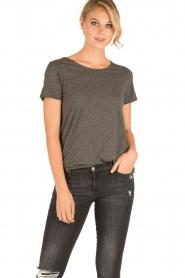 American Vintage | Ronde hals T-shirt Jacksonville | grijs  | Afbeelding 2
