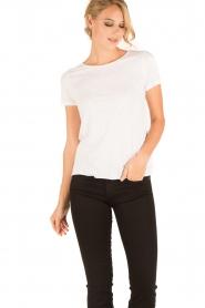 American Vintage | Ronde hals T-shirt Jacksonville | wit  | Afbeelding 2