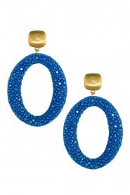 Miccy's | Oorbellen Stingray Hoops | blauw  | Afbeelding 1
