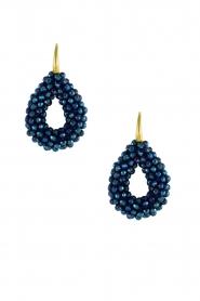 Miccy's | Oorbellen Open Crystal Drops | blauw  | Afbeelding 1