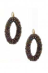 Miccy's | Oorbellen Crystal Ovals | zwart  | Afbeelding 1