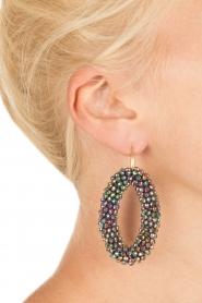 Miccy's | Oorbellen Crystal Ovals | zwart  | Afbeelding 3