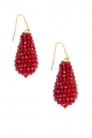 Miccy's | Oorbellen Crystal Drops | rood   | Afbeelding 1