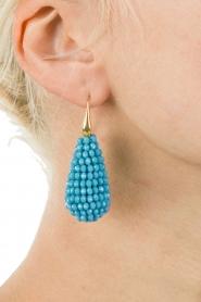Miccy's | Oorbellen Crystal Drops | blauw  | Afbeelding 3