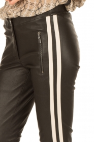 Arma | Lamsleren broek met zijstreep Lacay | zwart  | Afbeelding 6