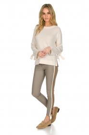 Arma | Lamsleren broek met zijstreep Lacay | grijs  | Afbeelding 3