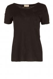 American Vintage | Ronde hals T-shirt Jacksonville | zwart  | Afbeelding 1