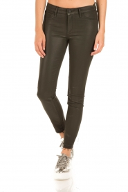 Articles of Society | Cropped skinny jeans met coating Sarah | groen  | Afbeelding 2