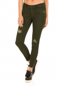 Articles of Society | Cropped skinny jeans Murry | groen  | Afbeelding 2