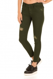 Articles of Society | Cropped skinny jeans Murry | groen  | Afbeelding 4
