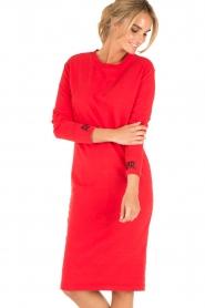 Amatør | Sweaterjurk Bash | rood  | Afbeelding 2