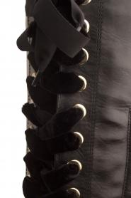 Noe | Leren veterlaars Nucca | zwart  | Afbeelding 7
