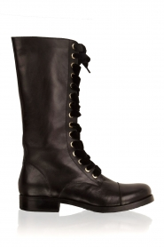 Leather lace-up boot Nucca | black