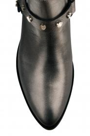 Toral | Leren metallic enkellaarzen Eclat | grijs  | Afbeelding 5