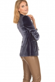 Patrizia Pepe | Velvet blazer Giacca | blauw  | Afbeelding 5