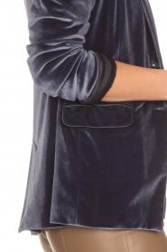 Patrizia Pepe | Velvet blazer Giacca | blauw  | Afbeelding 6