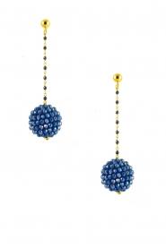 Miccy's | Oorbellen Kristallen Bal | Blauw  | Afbeelding 1