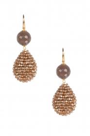 Miccy's | Oorbellen kristallen druppel met steen | Goud  | Afbeelding 1