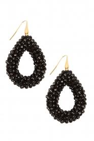 Miccy's |  Earrings open Drop | black  | Picture 2