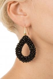 Miccy's |  Earrings open Drop | black  | Picture 3