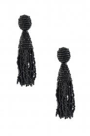 Miccy's |  Earring crystal Tassels | Black  | Picture 1