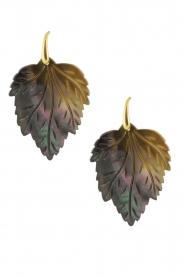 Miccy's | Oorbellen Leaves | Grijs  | Afbeelding 1