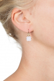 Satellite Paris |  14k gilded earrings Inez | pink  | Picture 3