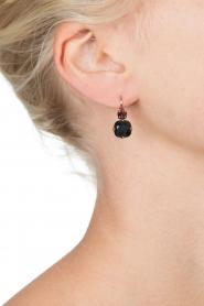 Satellite Paris | 14k vergulden oorbellen Inez | zwart  | Afbeelding 3